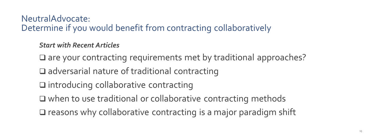 start with the first article on contracting requirements