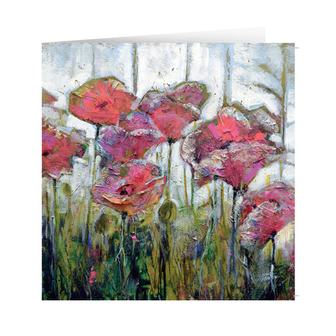 'Paper poppies' Card