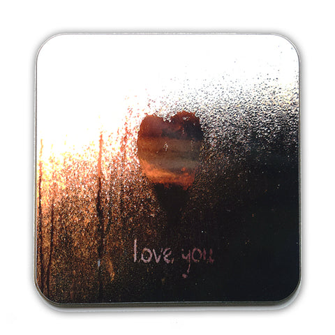 love you (gold) Coaster