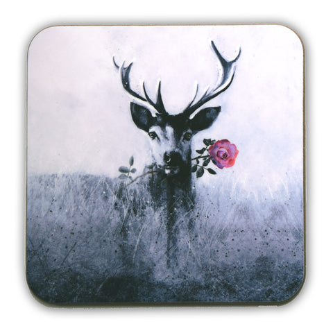 Stag with rose Coaster