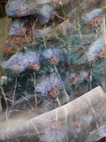 Thistle down the wind Silk Scarf