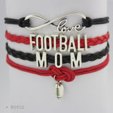 Love Being a Football Mom Braided Bangle Bracelet - FREE Shipping