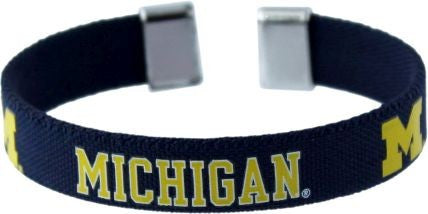 Michigan Wolverines Ribbon Bracelet