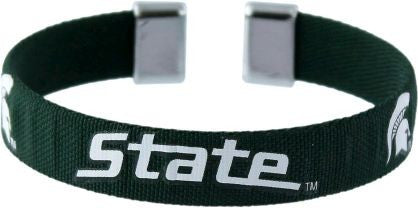 Michigan State Spartans Ribbon Bracelet