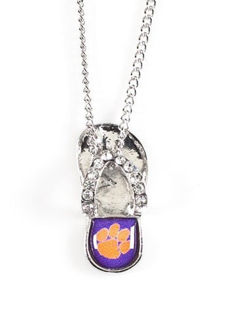 Clemson Tigers Flip Flop Necklace