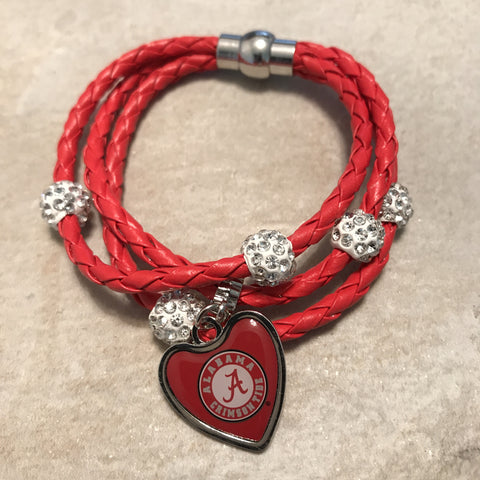Alabama Crimson Tide Braided Cord Bracelet