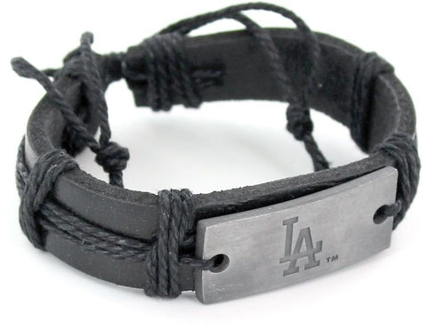 Los Angeles Dodgers Vintage Leather Bracelet