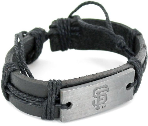 San Francisco Giants Vintage Leather Bracelet