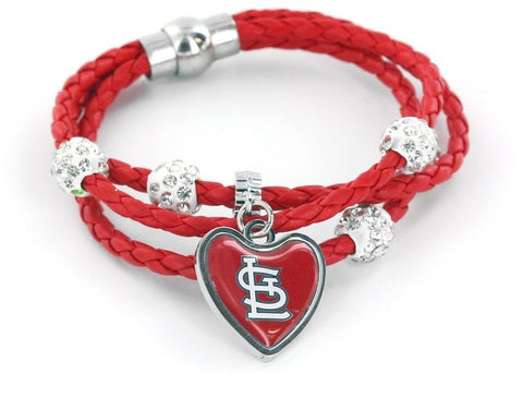 St. Louis Cardinals Braided Cord Bracelet
