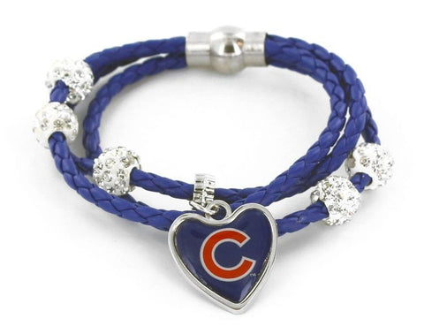 Chicago Cubs Braided Cord Bracelet