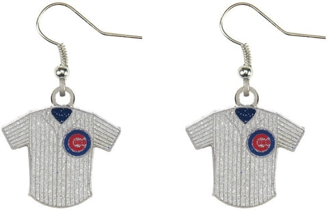 Chicago Cubs Glitter Jersey Earrings