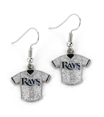 Tampa Bay Rays Glitter Jersey Earrings