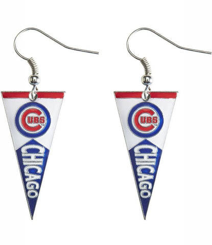 Chicago Cubs Pennant Earrings