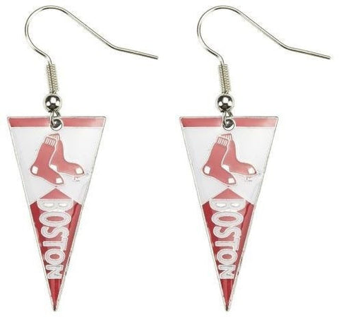 Boston Red Sox Pennant Earrings