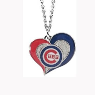 Chicago Cubs Heart Dangle Necklace