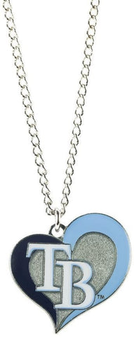 Tampa Bay Rays Heart Dangle Necklace