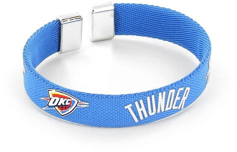 Oklahoma City Thunder Ribbon Bracelet