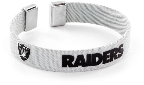 Oakland Raiders Ribbon Bracelet