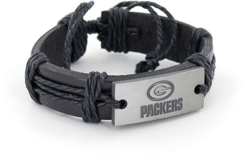 Green Bay Packers Vintage Leather Bracelet