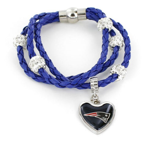 New England Patriots Braided Cord Bracelet