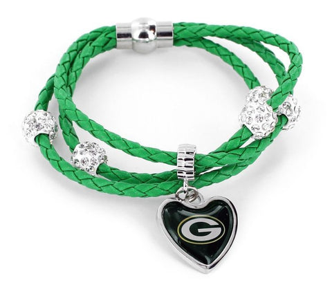 Green Bay Packers Braided Cord Bracelet