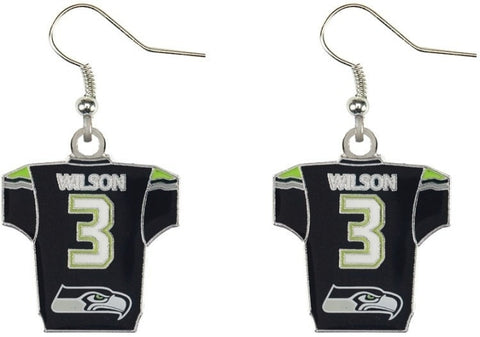 Russell Wilson Jersey Earrings