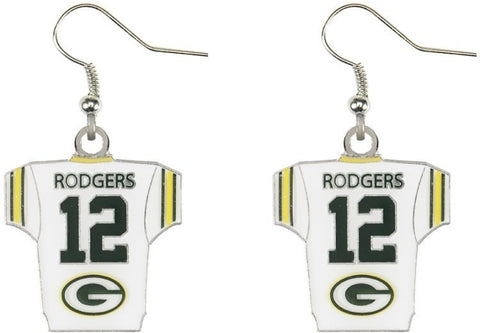 Aaron Rodgers Jersey Earrings