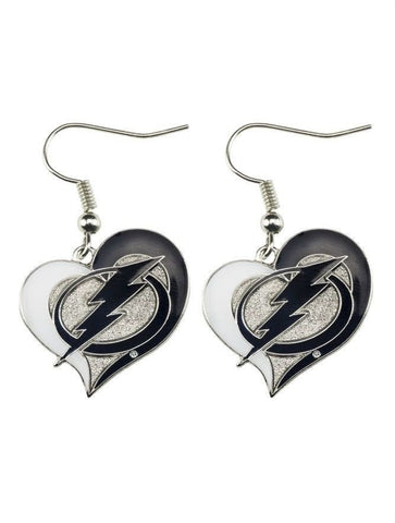 Tampa Bay Lightning Heart Dangle Earrings