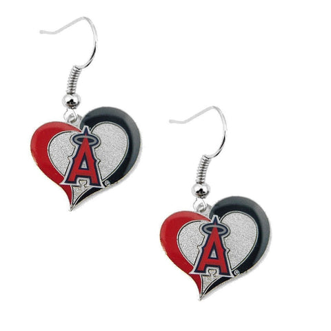 Los Angeles Angels Heart Dangle Earrings