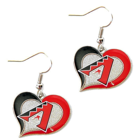 Arizona Diamondbacks Heart Dangle Earrings