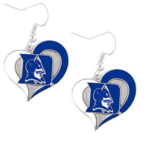 Duke Blue Devils Heart Dangle Earrings