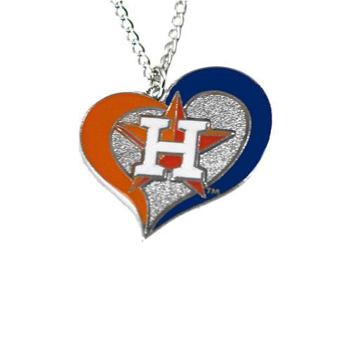 Houston Astros Heart Dangle Necklace