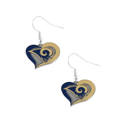 Los Angeles Rams Heart Dangle Earrings