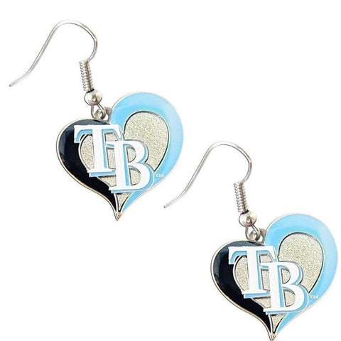 Tampa Bay Rays Heart Dangle Earrings