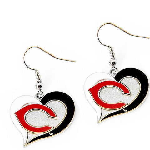 Cincinnati Reds Heart Dangle Earrings