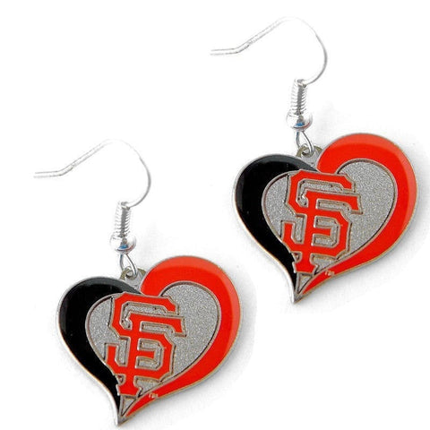 San Francisco Giants Heart Dangle Earrings