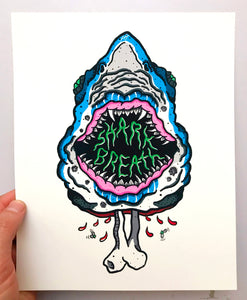 Shark Breath 8 x 10 Print