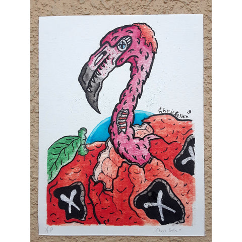 Birth of A Flamingo Print