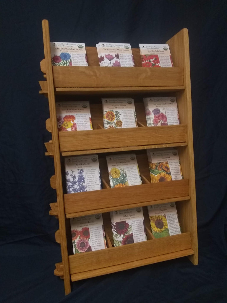 Retail Display - 12-pocket Wooden Countertop Rack