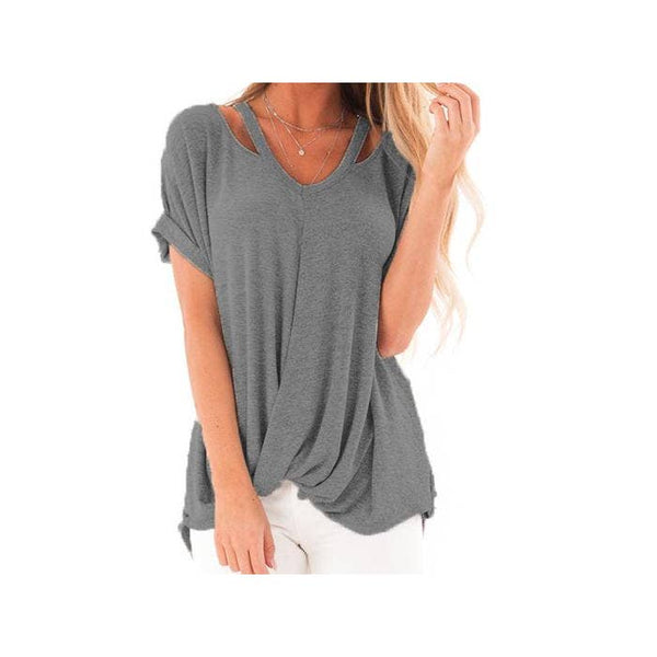 Grey Get Carried Away Top