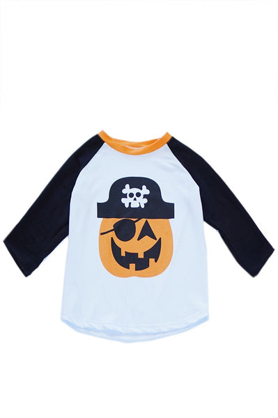 Pirate Pumpkin Raglan Top - Children's