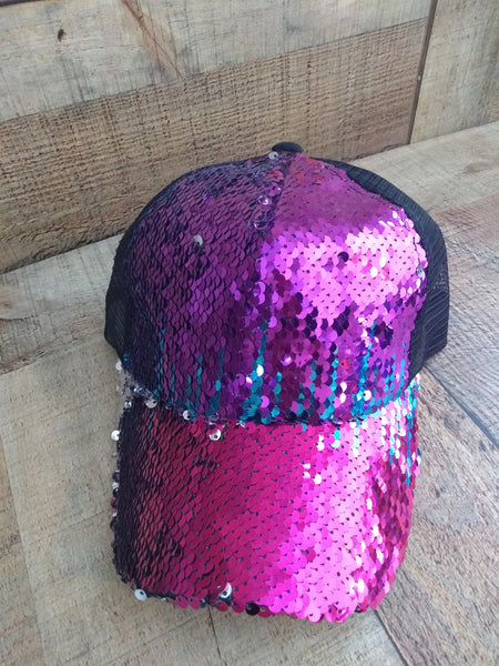 Sequin C.C. Ponytail Caps