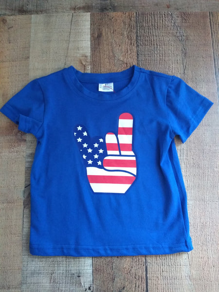 Rock On America Girls T-Shirt