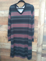 Mauve Striped Dress