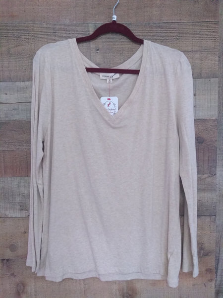 Oatmeal Long Sleeve Top (Plus Size)