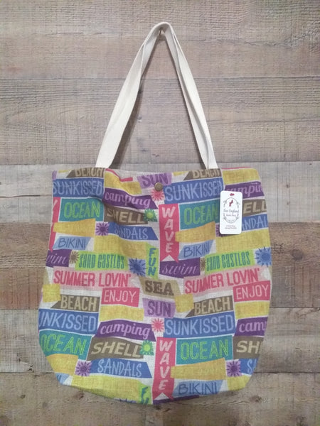Vacation Theme Tote Bag