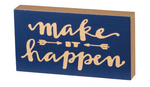 Make It Happen - Block Magnet