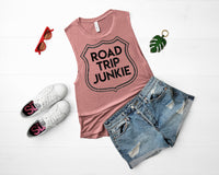 Road Trip Junkie Graphic Tank