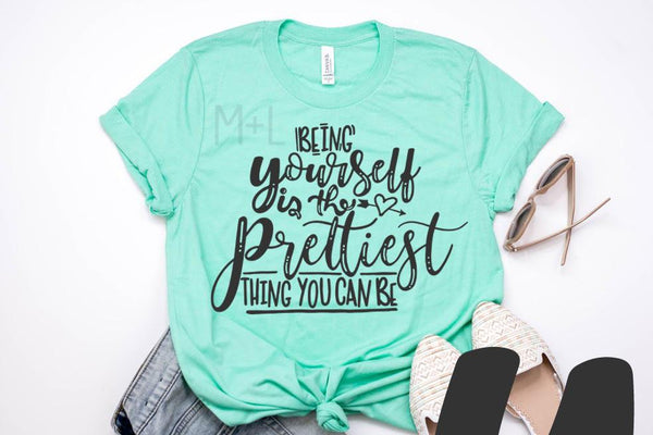 Being Yourself Graphic Tee - Teal