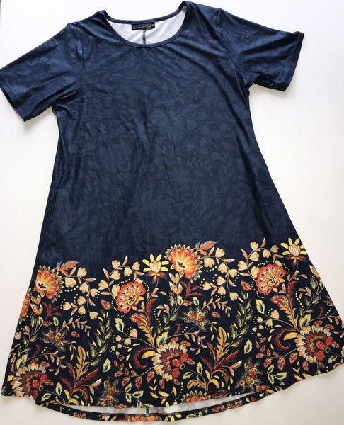 Gold Paisley Women's Dress